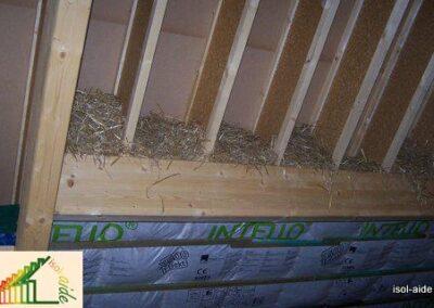 Isolation toiture paille