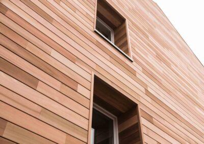 Isolation façade chanvre + cèdre